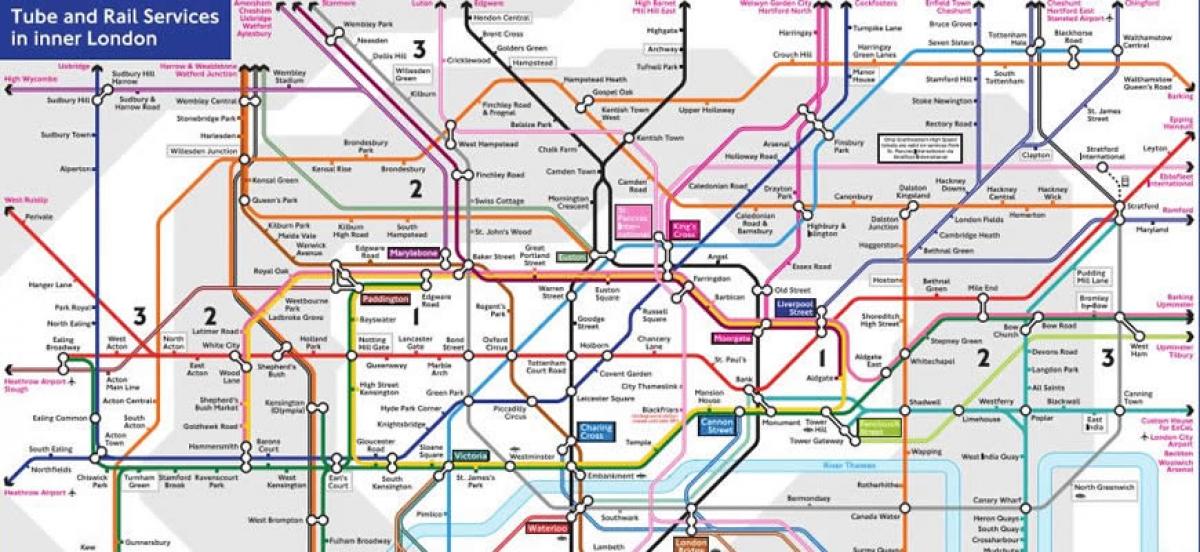 Metropolitana Di Londra Cartina.London Europe Service La Metropolitana Di Londra